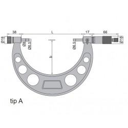 Micrometru de exterior cu palpatori interschimbabili 0-100 mm