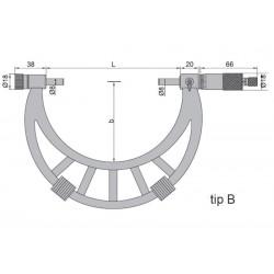 Micrometru de exterior cu palpatori interschimbabili 300-400 mm
