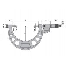Micrometru digital de exterior cu palpatori interschimbabili 200-300 mm