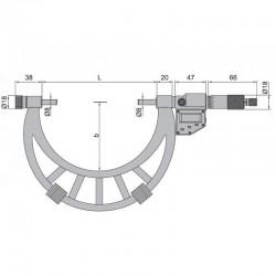Micrometru digital de exterior cu palpatori interschimbabili 300-400 mm