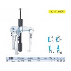Extractor rulmenti universal cu 3 brate si cu cilindru hidraulic