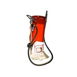 Dispozitiv pentru sablare exterior cu capac concav, 75 L